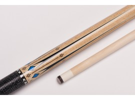Photo MIT MF1-019 pool billiard cue, two-piece, with quality leather tip, solid wooden shaft and irish linen grip incl. joint protectors BI080QUE084.01-20