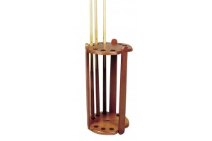 Cue rack round 9 cues brown