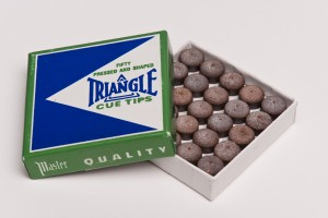 Triangle adhesive leather, different diameters