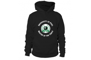 Hoodie Unisex: University of Pool. Size XS-5XL, various colors