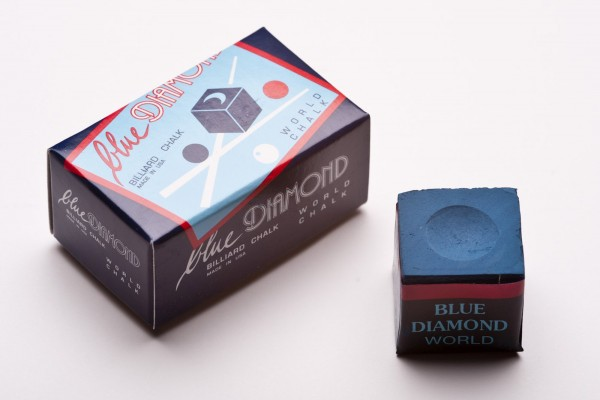 Photo Blue Diamond Professional Billiard Chalk, 2 pieces, blue BI200KRE001.01-01