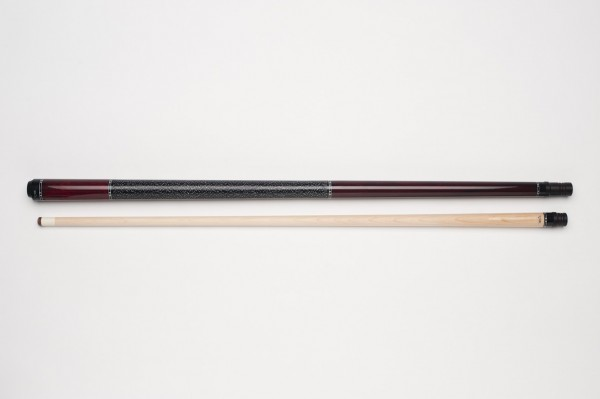 Photo MIT MW2-002 pool billiard cue, two-piece, with quality leather tip, solid wooden shaft and irish linen grip incl. joint protectors BI080QUE103.01-01